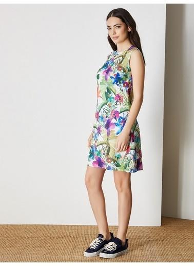 Vekem-Limited Edition Elbise Ekru